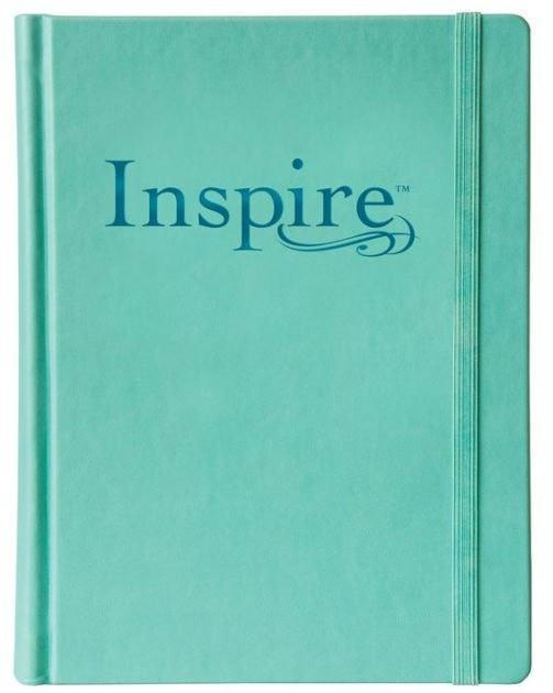 NLT Inspire Bible: The Bible for Creative Journaling, Teal-Christian Bibles-SonGear Marketplace-SonGear