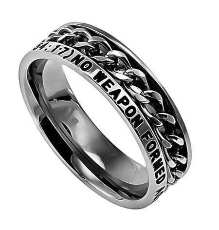 'No Weapon' - Women's Chain Ring-Christian Rings-Spirit and Truth-SGN4019162814-SonGear