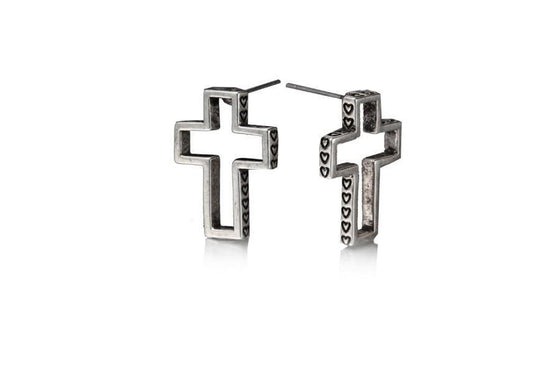 Open Your Heart Cross Earring-Christian Earrings-Halle Joy-SonGear