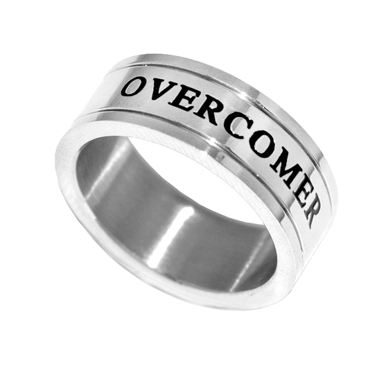 Overcomer - Silver Channel Ring - Unisex