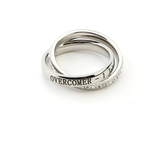 Overcomer Ring - 1 John 4:4-Christian Rings-SonGear-SonGear