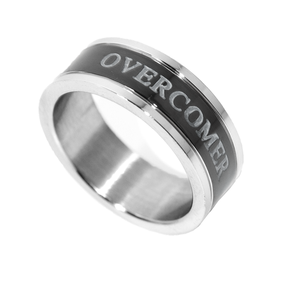 Overcomer - Black Channel Ring - Unisex