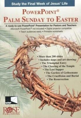 Palm Sunday to Easter: PowerPoint CD-ROM-Christian Books-SonGear Marketplace-SonGear