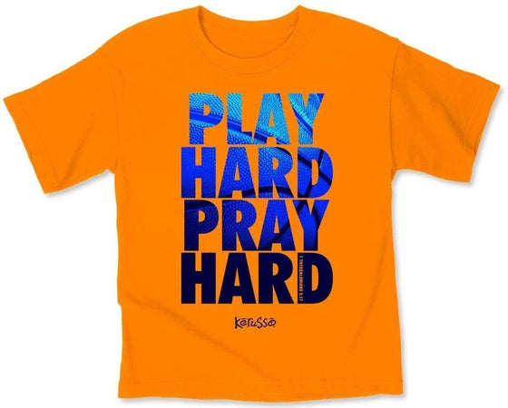 Play Hard Kids T-Shirt-Christian T-Shirts-Kerusso-KDZ1689SM-SonGear