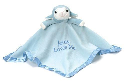 Precious Moments Lamb Plush Blanket - Blue-Christian Stuffed Toys-SonGear Marketplace-SonGear
