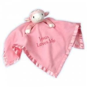 Precious Moments Lamb Plush Blanket - Pink-Christian Stuffed Toys-SonGear Marketplace-SonGear