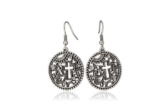 Promising Cross Earring-Christian Earrings-Halle Joy-SonGear
