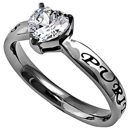 'Purity' - CZ Heart Ring-Christian Rings-Spirit and Truth-SGN780968122-SonGear