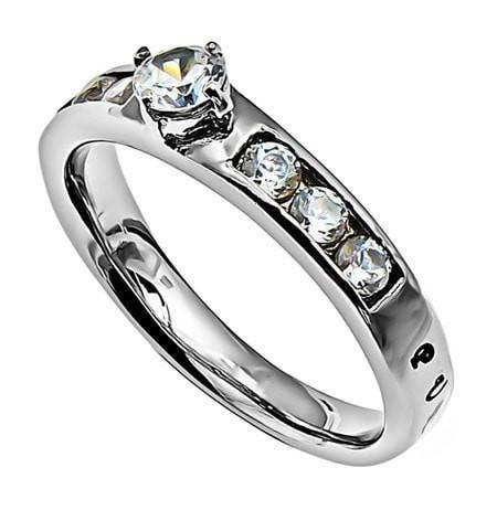 'Purity' - Princess Solitaire Ring-Christian Rings-Spirit and Truth-SGN450115944-SonGear