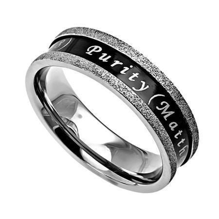 'Purity' - Women's Ebony Champagne Ring-Christian Rings-Spirit and Truth-SGN2168268328-SonGear