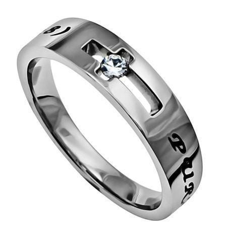 'Purity' - Women's Solitaire Ring-Christian Rings-Spirit and Truth-SGN859147623-SonGear