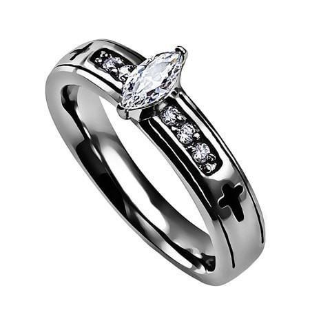 "Regent Marquise Ring ""True Love Waits""-Christian Rings-Spirit and Truth-SGN551881422-SonGear"