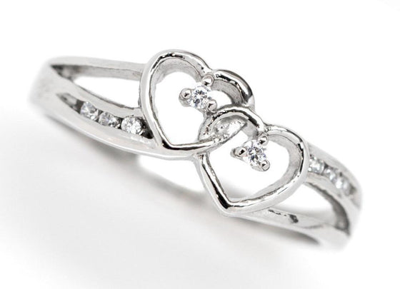I Am My Beloved's - Women's Double Heart Ring