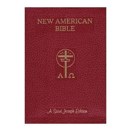Saint Joseph Giant Print Bible-NABRE New American Bible Edition, Imitation Leather, Red-Christian Bibles-SonGear Marketplace-SonGear
