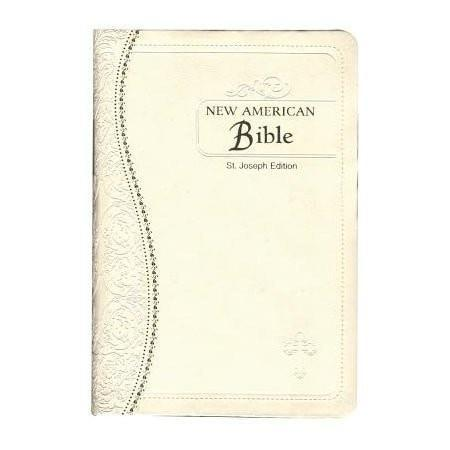 Saint Joseph Medium Size Gift Bible-NABRE, Leather, Cream-Christian Bibles-SonGear Marketplace-SonGear