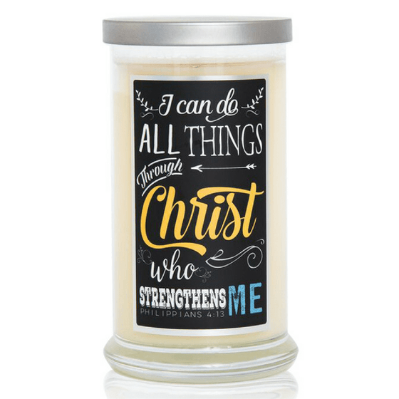 Scented Scripture Candle - Philippians 4:13 - Ocean Breeze-Christian Candles-Classic City Gift-SonGear