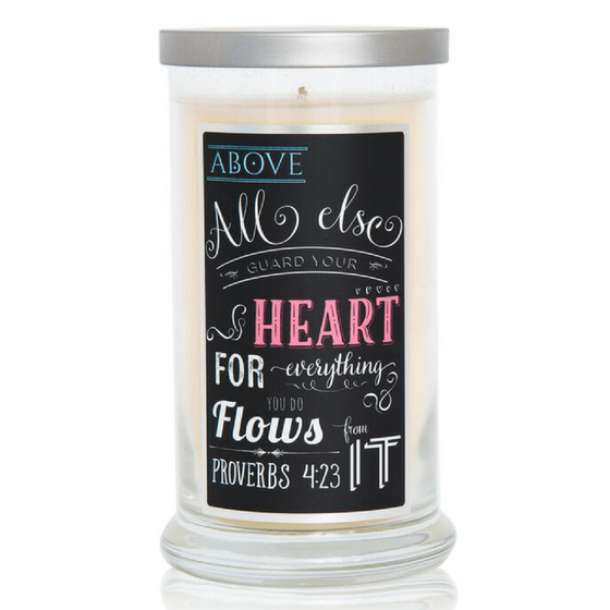Scented Scripture Candle - Proverbs 4:23 - Ocean Breeze-Christian Candles-Classic City Gift-SonGear