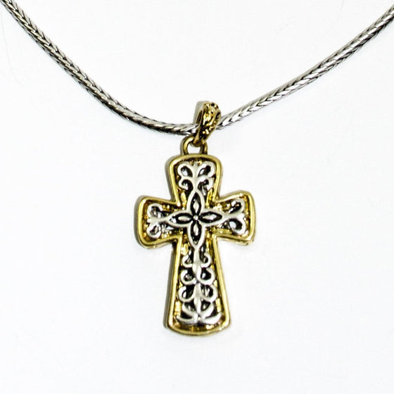 Scrolled Cross Necklace-Christian Necklaces-Halle Joy-SonGear