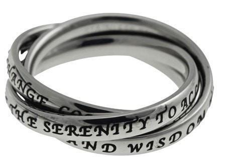 'Serenity Prayer' - Women's Triple Band-Christian Rings-Spirit and Truth-SGN4106449099-SonGear