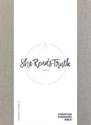 She Reads Truth Bible, Gray Linen, Indexed-Christian Bibles-SonGear Marketplace-SonGear