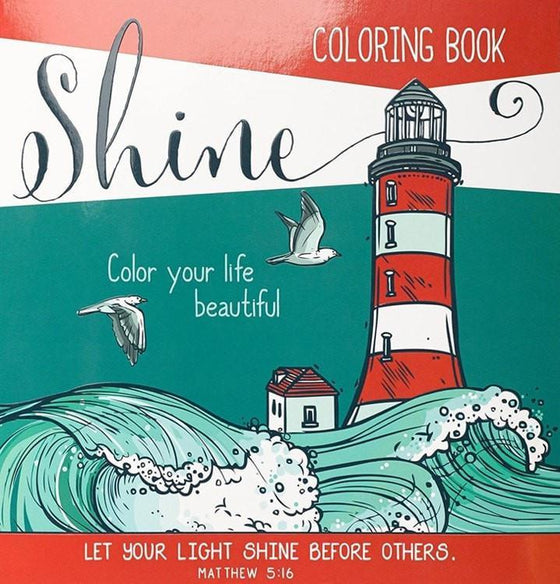 Shine, Coloring Book For Adults-Christian Books-SonGear Marketplace-SonGear