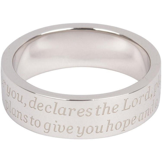 "Silver Scripture Ring ""I know the plans. . . ""-Christian Rings-Cornerstone Jewelry-684191819902-5-684191819902-5-SonGear"