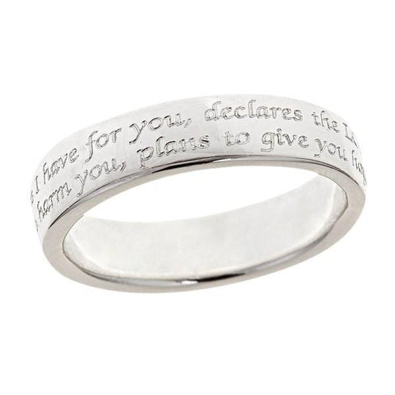 Silver Scripture Ring - Jeremiah 29:11-Christian Rings-Cornerstone Jewelry-684191819018-5-684191819018-5-SonGear