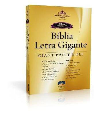 Spanish - RVR 1960 Giant Print Bible-Black Imitation Leather Indexed-Christian Bibles-SonGear Marketplace-SonGear