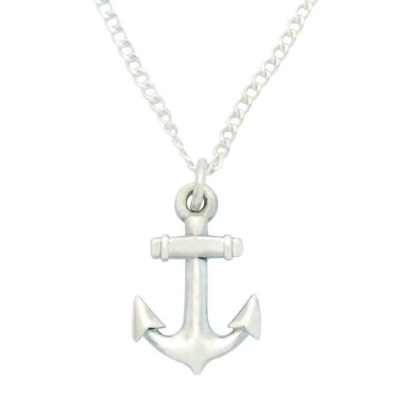 Sterling Silver Cross Necklace - Anchor Cross-Christian Necklaces-Bob Siemon-SonGear