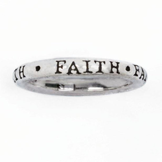 "Sterling Silver Ladies' ""Faith"" Stackable Ring-Christian Rings-Bob Siemon-SGN1186003837-SGN1186003837-SonGear"