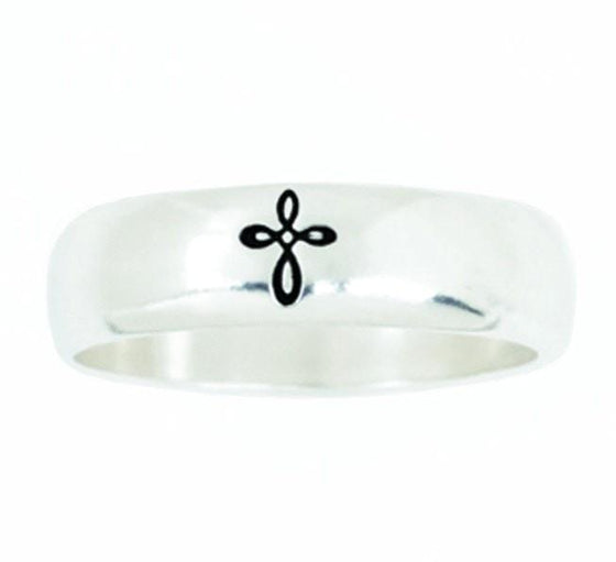 Sterling Silver Ladies' Woven Cross Ring-Christian Rings-Bob Siemon-SGN2886542935-SonGear