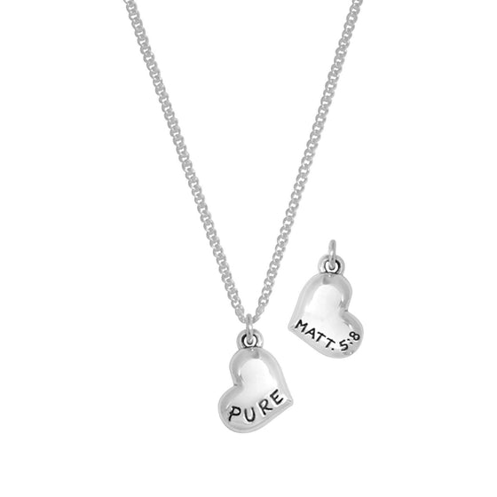 Sterling Silver Purity Necklace - Pure In Heart-Christian Necklaces-Bob Siemon-SonGear