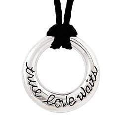 Sterling Silver True Love Waits Necklace - Circle-Christian Necklaces-Bob Siemon-SonGear