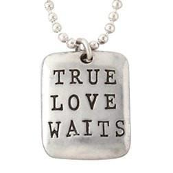 Sterling Silver True Love Waits Necklace - Tag-Christian Necklaces-Bob Siemon-SonGear