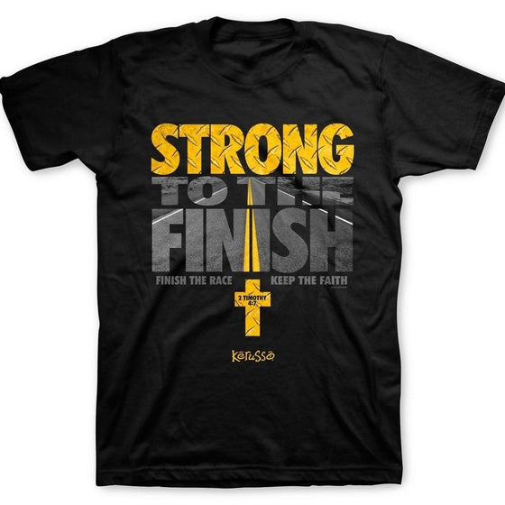Strong To The Finish T-Shirt-Christian T-Shirts-Kerusso-APT1685SM-SonGear