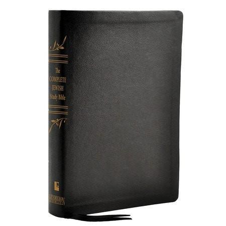The Complete Jewish Study Bible, Genuine Calfskin leather black-Christian Bibles-SonGear Marketplace-SonGear
