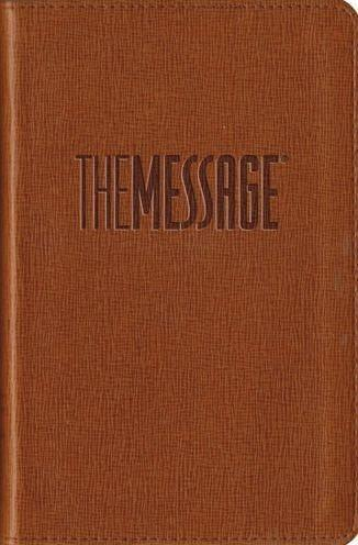 The Message Bible, Compact Soft leather-look, tan-Christian Bibles-SonGear Marketplace-SonGear