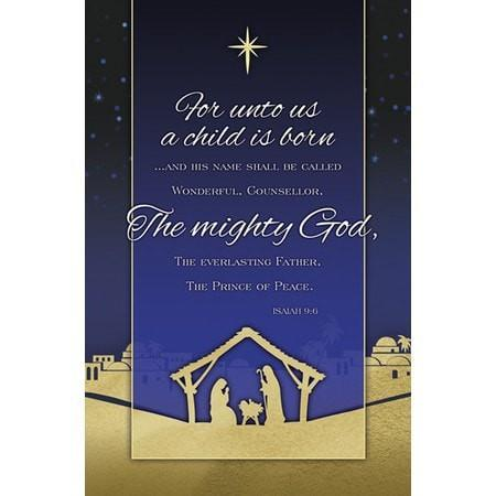 The Mighty God (Isaiah 9:6) Bulletins, 100-Christian Church Supplies-SonGear Marketplace-SonGear