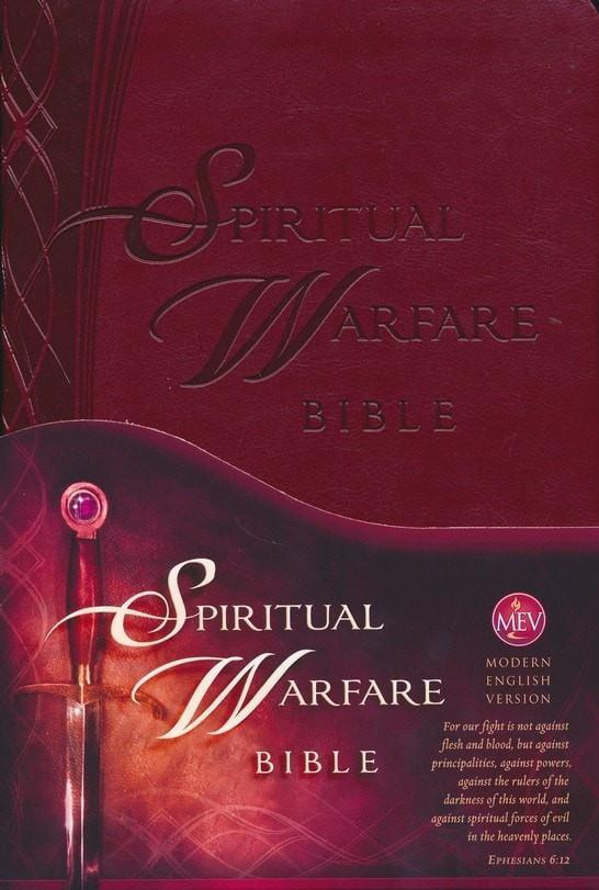 The Spiritual Warfare Bible: Modern English Version (MEV), Leather, imitation-Christian Bibles-SonGear Marketplace-SonGear