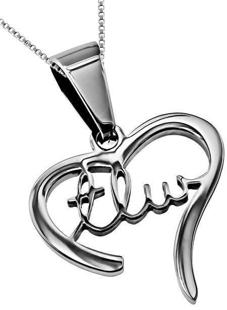 'TLW' - Handwriting Heart Necklace-Christian Necklaces-Spirit and Truth-SonGear