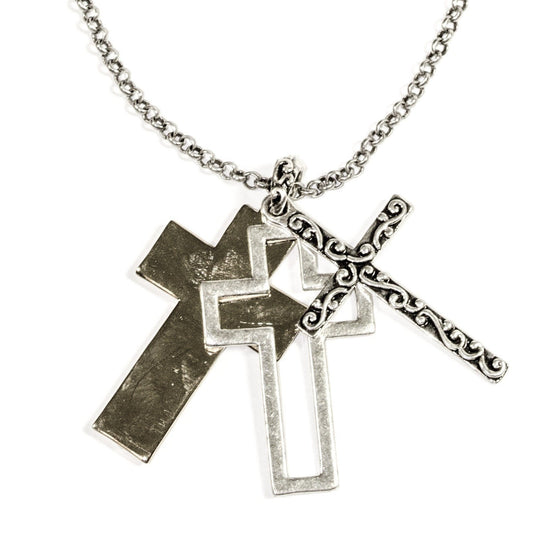 Trinity Cross with Gold Necklace-Christian Necklaces-Halle Joy-SonGear