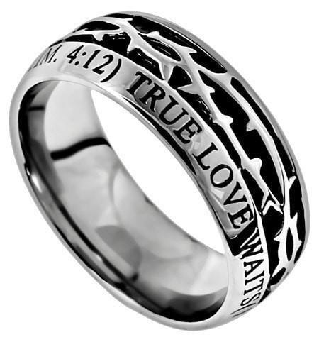'True Love Waits' - Men's Crown Of Thorns Ring-Christian Rings-Spirit and Truth-SGN1488556744-SonGear