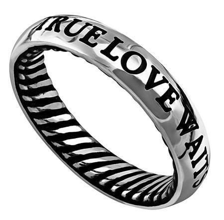 'True Love Waits' - Men's Traditional Band-Christian Rings-Spirit and Truth-SGN909733785-SonGear