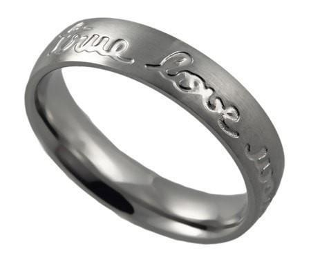 'True Love Waits' - Women's Handwriting Band-Christian Rings-Spirit and Truth-SGN124240939-SonGear