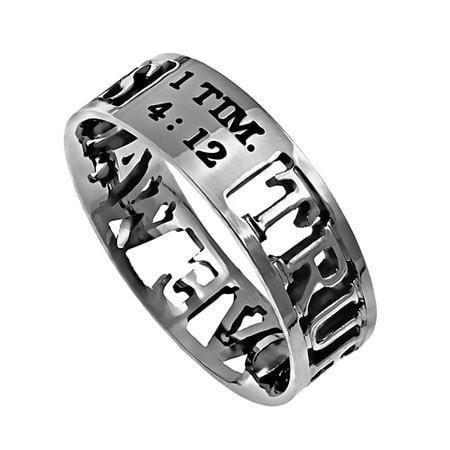 'True Love Waits' - Women's Mini Silhouette Ring-Christian Rings-Spirit and Truth-SGN179321271-SonGear