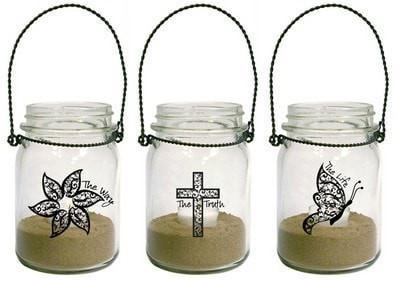 Way, Truth, Life Lanterns, Set of 3-Christian Candle Holders-SonGear Marketplace-SonGear
