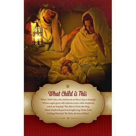 What Child Is This Christmas Bulletins, 100-Christian Church Supplies-SonGear Marketplace-SonGear