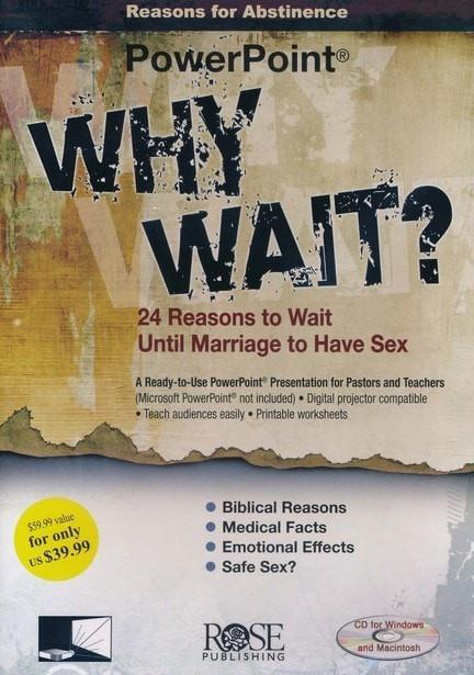 Why Wait? 24 Reasons for Abstinence Before Marriage: PowerPoint CD-ROM-Christian Books-SonGear Marketplace-SonGear