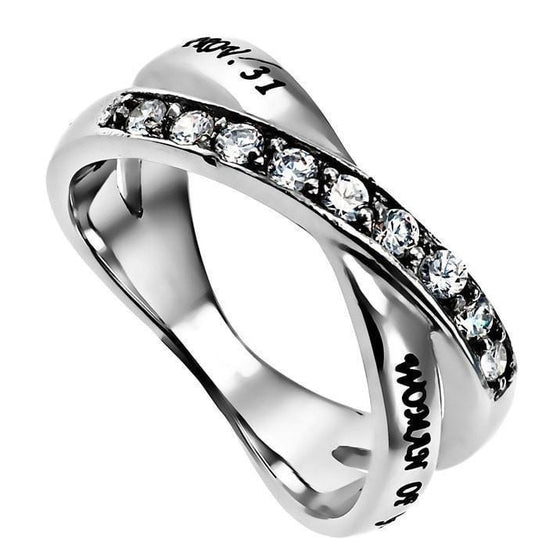 'Woman of God' - Women's Radiance Ring-Christian Rings-Spirit and Truth-SGN723799080-SonGear