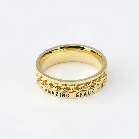 Women's Freedom Ring - 18K Gold (Factory Second)-Christian Rings-SonGear-SonGear